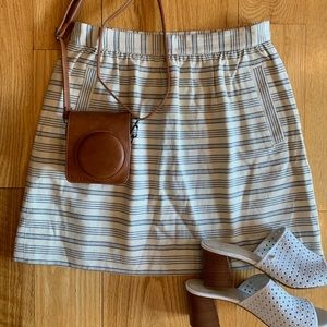 NEW Anthropologie Stripped White and Blue Skirt
